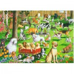 Puzzle  Ravensburger-14870 XXL Teile - At the Dog Park