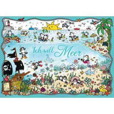 Puzzle Ravensburger-15008 Sheepworld - Ich Will Meer