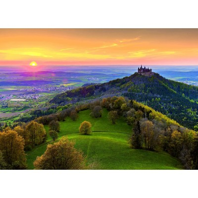 Puzzle Ravensburger-15012 Deutschland Collection - Burg Hohenzollern