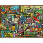 Puzzle  Ravensburger-16361 Colin Thompson - Das Krachmacher Regal