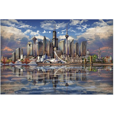 Puzzle Ravensburger-17066 North American Skyline