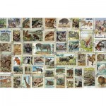 Puzzle  Ravensburger-17079 Animal Stamps