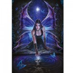 Puzzle  Ravensburger-19110 Anne Stokes: Sehnsucht
