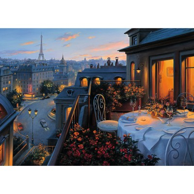 Puzzle Ravensburger-19410 Romantisches Paris