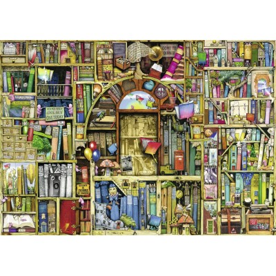 Puzzle Ravensburger-19418 Colin Thompson: Magisches Bücherregal 2