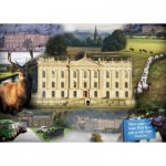 Puzzle  Ravensburger-19572 Chatsworth Impressionen