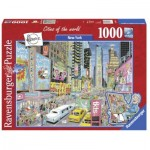 Puzzle  Ravensburger-19732 Cities of the World - New York