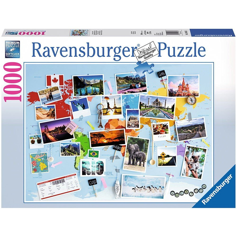 reise um die welt 1000 teile ravensburger puzzle online kaufen. Black Bedroom Furniture Sets. Home Design Ideas