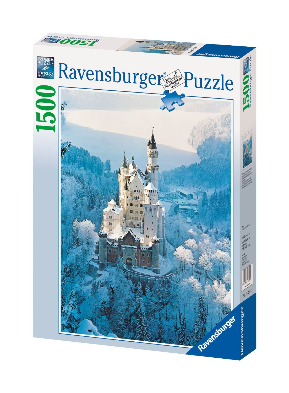 schloss neuschwanstein im winter 1500 teile ravensburger puzzle online kaufen. Black Bedroom Furniture Sets. Home Design Ideas