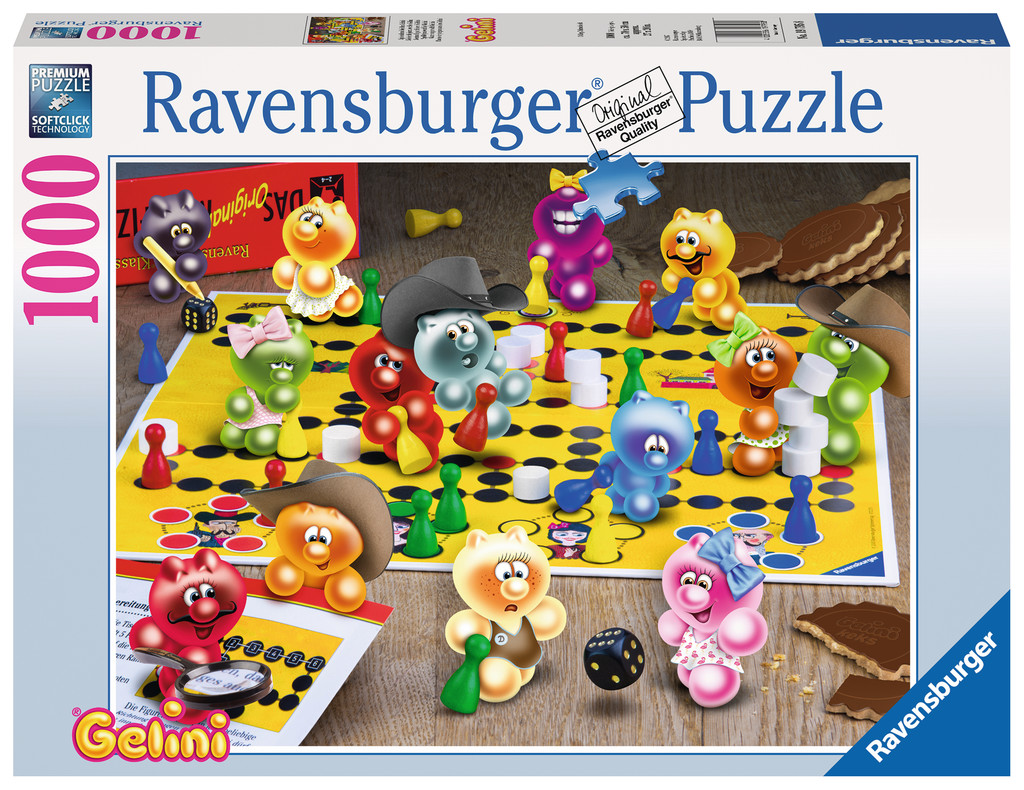 spieleabend bei den gelini 1000 teile ravensburger puzzle online kaufen. Black Bedroom Furniture Sets. Home Design Ideas