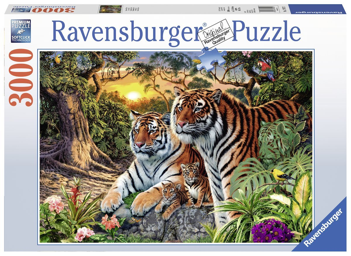 versteckte tiger 3000 teile ravensburger puzzle online kaufen. Black Bedroom Furniture Sets. Home Design Ideas