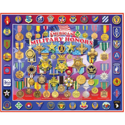 Puzzle White-Mountain-1044 American Military Honors