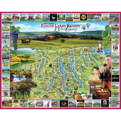 Puzzle White-Mountain-870 Finger Lakes