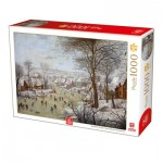 Puzzle   Breughel the Younger - Winterlandscape with a Bird Traps