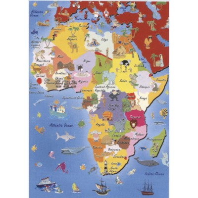 Puzzle Dtoys-50663-MP-04 Landkarte Afrika