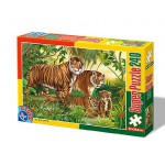 Puzzle  Dtoys-60211-AN-04 Wilde Tiere: Tigerfamilie
