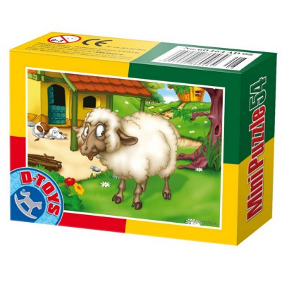 Dtoys-60464-AD-07 Mini Puzzle: Schaf