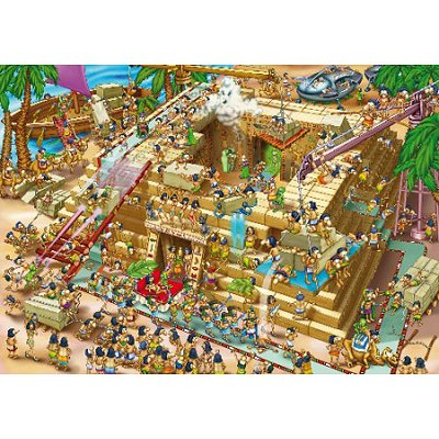 Puzzle DToys-61218-CC03-(70890) Cartoon Collection: Pyramiden in Ägypten