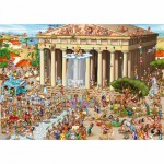 Puzzle  DToys-61218-CC04 Cartoon Collection: Akropolis, Griechenland