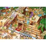 DToys-64974-CP01 Cartoon, Pyramiden in Ägypten / schwieriges Puzzle
