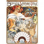 Puzzle  DToys-66930-MU04-(70098) Alphonse Mucha: Biscuits Lefèvre-Utile