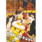Puzzle  DToys-67555-VP08 Vintage Posters: Moulin-Rouge