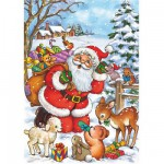 Puzzle  DToys-67616-CH03 Christmas Collection: Wart ihr auch brav