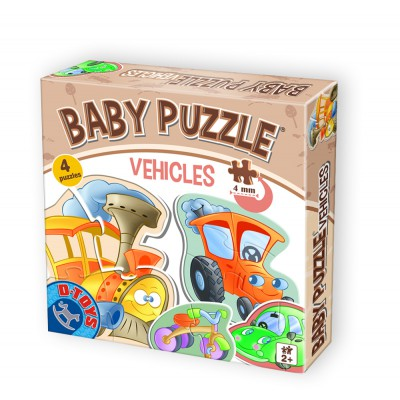 Dtoys-71279-BP-01 4 Puzzles - Baby Puzzle