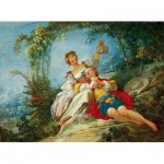 Puzzle  Dtoys-72702-FR02 Jean-Honoré Fragonard: Happy Lovers