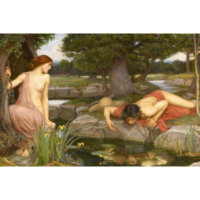 Puzzle Dtoys-72757-WA-02 Waterhouse John William: Echo und Narcissus
