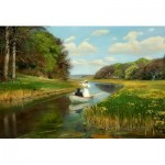Puzzle  Dtoys-72795-BR-01 Hans Andersen Brendekilde: A Young Couple in a Rowing Boat on Odense
