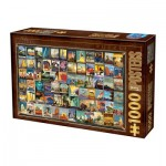 Puzzle  Dtoys-74362-VC02-(74621) Vintage Collage - Travel