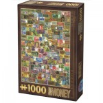 Puzzle  Dtoys-74362-VC04 Vintage Collage - Banknoten