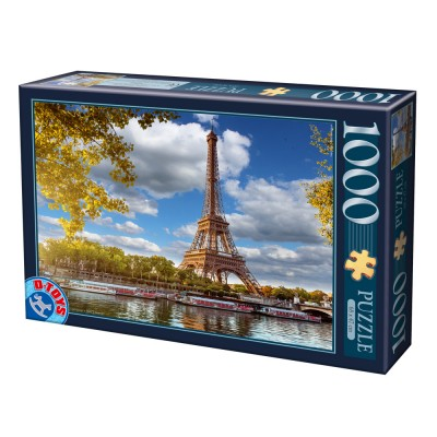 Puzzle Dtoys-74805 Eiffelturm, Paris
