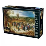 Puzzle  Dtoys-76854 Breughel the Younger - The Marriage Procession
