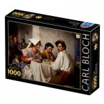 Puzzle  Dtoys-77363 Carl Bloch : In a Roman Osteria