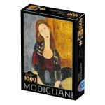 Puzzle  Dtoys-77400 Modigliani Amedeo : Portrait of Jeanne Hébuterne
