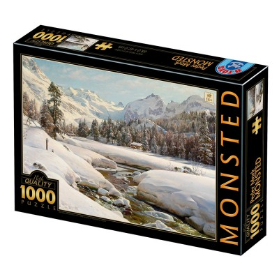 Puzzle Dtoys-77660 Peder Mørk Mønsted - Winter Landscape in Switzerland near Engadin