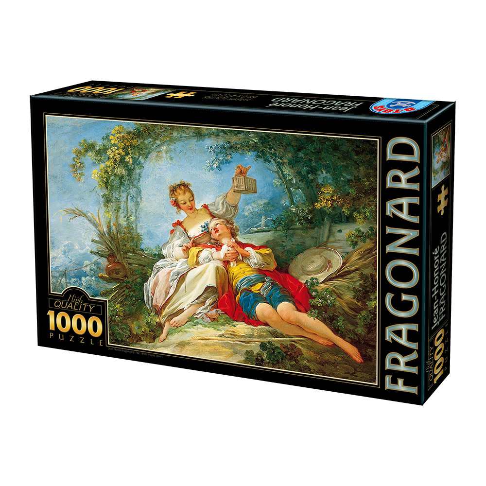 jean honor fragonard happy lovers 1000 teile dtoys puzzle online kaufen. Black Bedroom Furniture Sets. Home Design Ideas