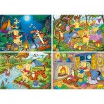 Clementoni-07618 4 Puzzles - Winnie The Pooh (2x20, 2x60 Teile)