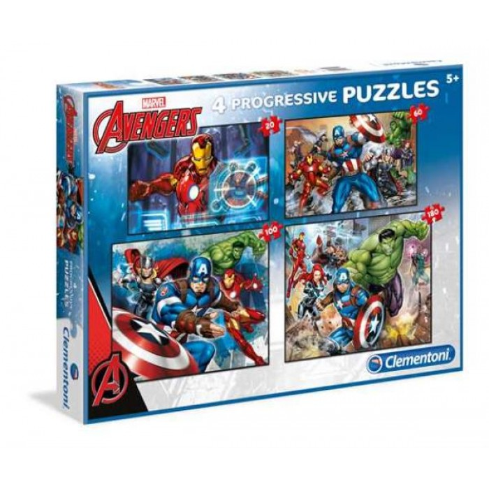4 Puzzles - Marvel Avengers