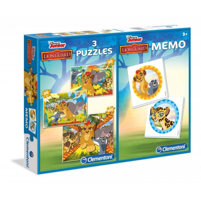3 Puzzles + Memo - The Lion Guard