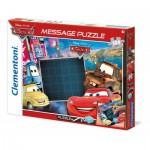 Clementoni-20233 Message Puzzle Cars