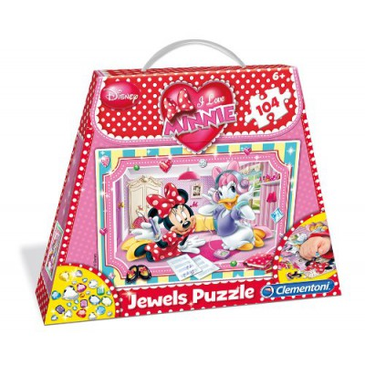 Clementoni-20405 Minnie Shopping Bag Puzzle