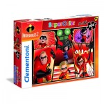 Puzzle  Clementoni-23723 XXL Teile - The Incredibles 2