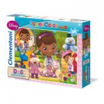 Clementoni-24452 Maxi Puzzle - Smiles and Hugs Doc McStuffins