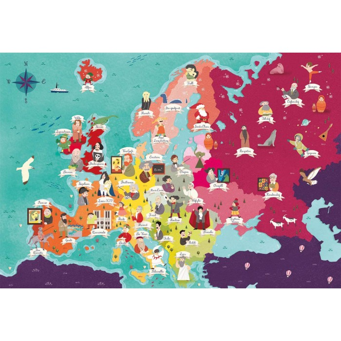 Exploring Maps : Europe - Monuments + People