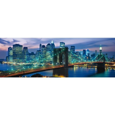 Clementoni-39209 Panoramapuzzle - Brooklyn Bridge, New York