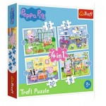 Puzzle   4 in 1 - Holiday reccolection - Peppa Pig