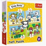 Puzzle   4 in 1 - Kittykit day (12-15-20-24 Pièces)